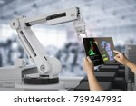 human control 3d rendering... | Shutterstock . vector #739247932