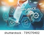 Small photo of Compliance Rules Law Regulation Policy Business Technology concept.