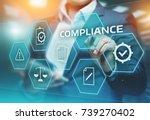 compliance rules law regulation ... | Shutterstock . vector #739270402