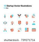 start up flat vector... | Shutterstock .eps vector #739271716