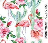 vector seamless composition... | Shutterstock .eps vector #739277422