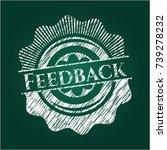 feedback chalk emblem | Shutterstock .eps vector #739278232