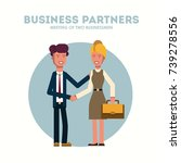 business man and woman. two... | Shutterstock .eps vector #739278556