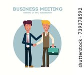 two businessman. two persons... | Shutterstock .eps vector #739278592