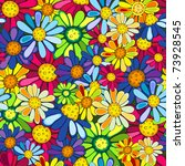 Floral Seamless Colorful Vivid...