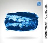 blue brush stroke and texture.... | Shutterstock .eps vector #739287886