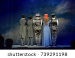 the actors turned their backs... | Shutterstock . vector #739291198