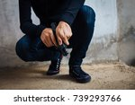 criminal and robbery concept....   Shutterstock . vector #739293766