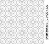 ornamental seamless vector... | Shutterstock .eps vector #739294222
