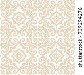 vintage seamless pattern. tiled ...   Shutterstock .eps vector #739294276