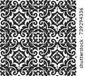 vintage seamless pattern. tiled ...   Shutterstock .eps vector #739294336