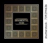 vintage ornamental art deco...   Shutterstock .eps vector #739294636