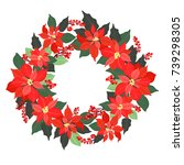 christmas card  a banner with a ...   Shutterstock .eps vector #739298305