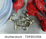 Small photo of cooking gas adjuster with equipments
