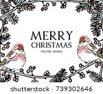 christmas greeting card or...   Shutterstock .eps vector #739302646