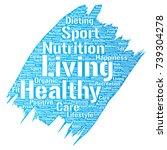 vector conceptual healthy... | Shutterstock .eps vector #739304278