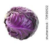 a head of purple cabbage.  shot ... | Shutterstock . vector #73930522