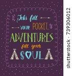 travel. vector hand drawn...   Shutterstock .eps vector #739306012
