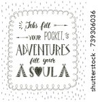 travel. vector hand drawn... | Shutterstock .eps vector #739306036