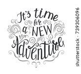 travel. vector hand drawn...   Shutterstock .eps vector #739306096