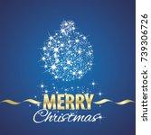 christmas ball symbol stardust... | Shutterstock .eps vector #739306726