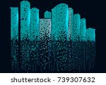 city scene on night time....   Shutterstock .eps vector #739307632