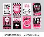 black friday sale template... | Shutterstock . vector #739310512