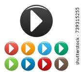 arrow icons set. simple... | Shutterstock .eps vector #739315255