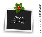 christmas photo frame  | Shutterstock . vector #739316488