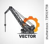 Crawler Construction Crane And...