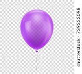 Purple Realistic Balloon....
