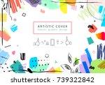 creative universal floral... | Shutterstock . vector #739322842
