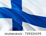 finland flag. flag of finland.... | Shutterstock . vector #739324195