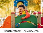 adorable little 1 2 year old... | Shutterstock . vector #739327396