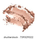 face powder isolated on white... | Shutterstock . vector #739329322