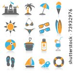 beach icon. | Shutterstock .eps vector #73932976