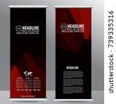 roll up business brochure flyer ... | Shutterstock .eps vector #739335316