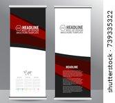 roll up business brochure flyer ...   Shutterstock .eps vector #739335322