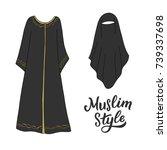 traditional islamic women... | Shutterstock .eps vector #739337698