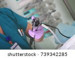 doctor at the endoscopy process ... | Shutterstock . vector #739342285