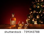 close up view  of two glasses... | Shutterstock . vector #739343788