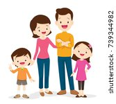 happy family. father  mother ... | Shutterstock .eps vector #739344982