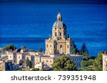 Panoramic view of the Temple Christ the King , Messina, Sicily. Italy.
