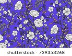 trendy seamless floral pattern... | Shutterstock .eps vector #739353268