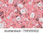 trendy seamless floral pattern... | Shutterstock .eps vector #739353322