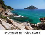 view of the coastline on... | Shutterstock . vector #739356256