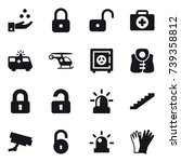 16 vector icon set   chamical... | Shutterstock .eps vector #739358812