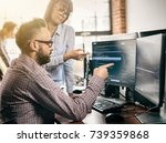 developing programming and... | Shutterstock . vector #739359868