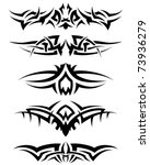 patterns of tribal tattoo for... | Shutterstock .eps vector #73936279