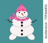 snowman christmas cold winter...   Shutterstock .eps vector #739366852